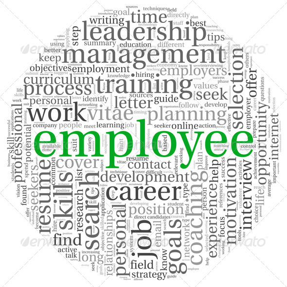 Emplyee concept in word tag cloud - Stock Photo - Images