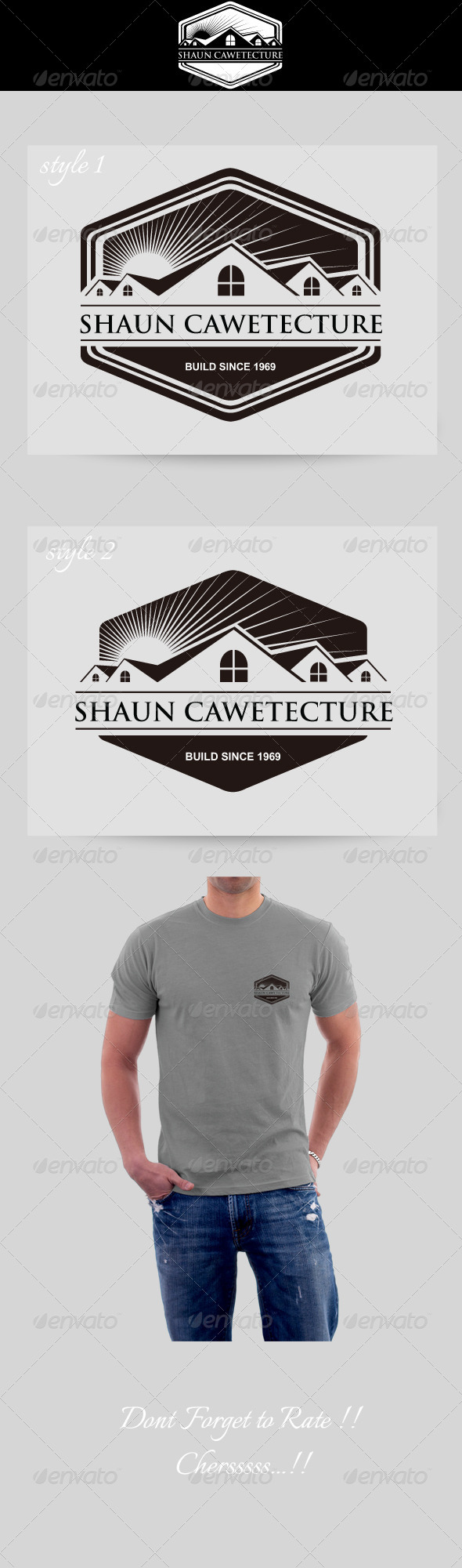 GraphicRiver Architecture Vintage Logo Cawetecture 4548496