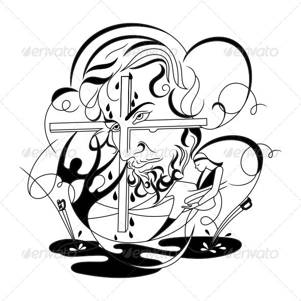 GraphicRiver Jesus Religious Vector Designs 4575795