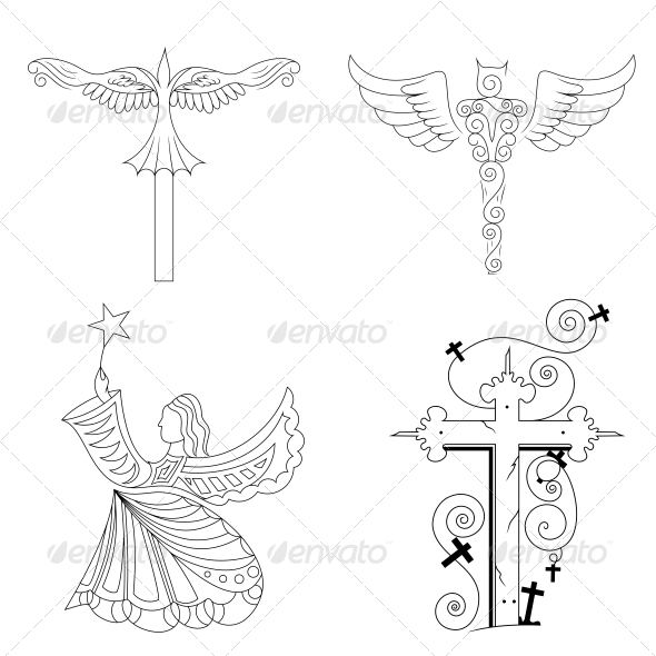 GraphicRiver Jesus Religious Vector Designs Pack 4575802