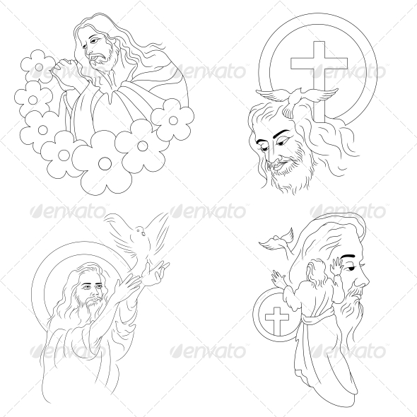 GraphicRiver Jesus Religious Vector Designs Pack 4575804