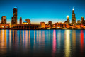 Chicago Downtown - Night Skyline  - PhotoDune Item for Sale