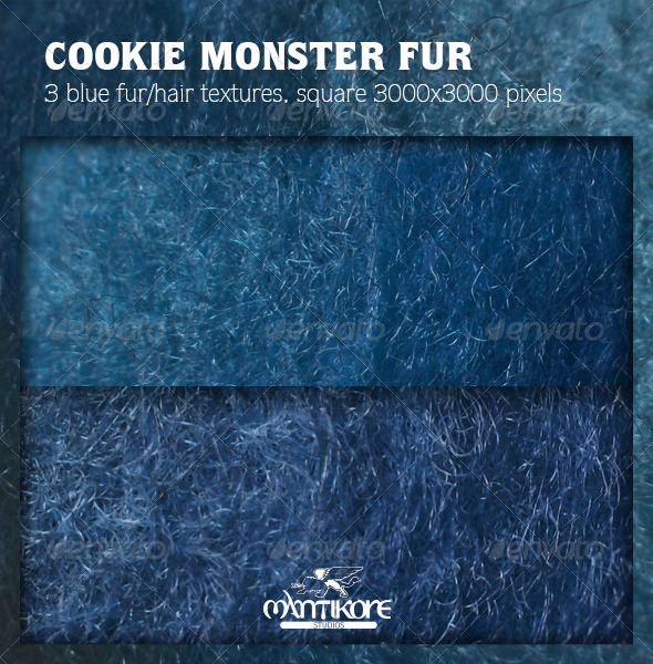 GraphicRiver Cookie Monster Fur 4576722