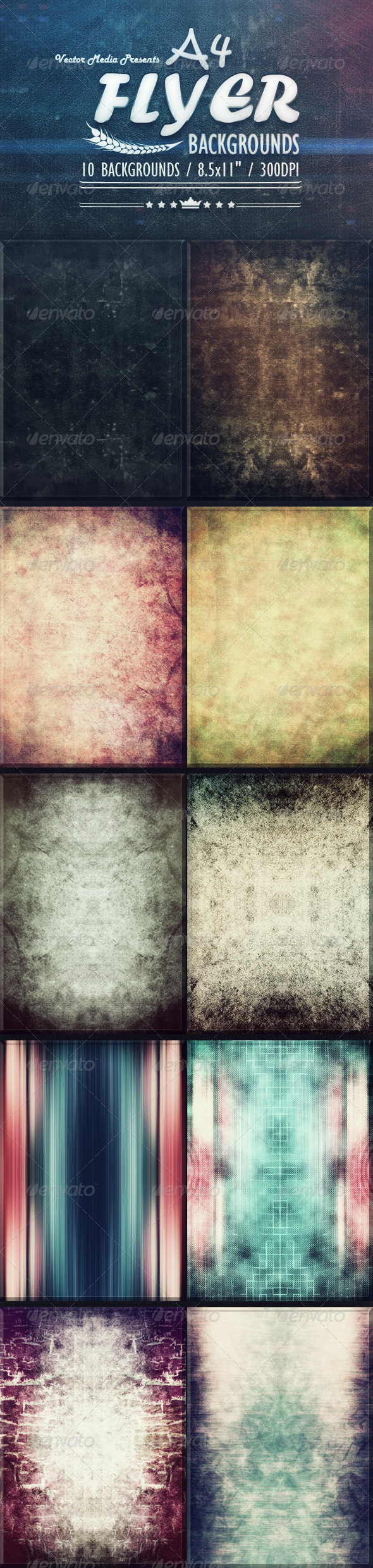 A4 - Flyer Backgrounds - Miscellaneous Backgrounds