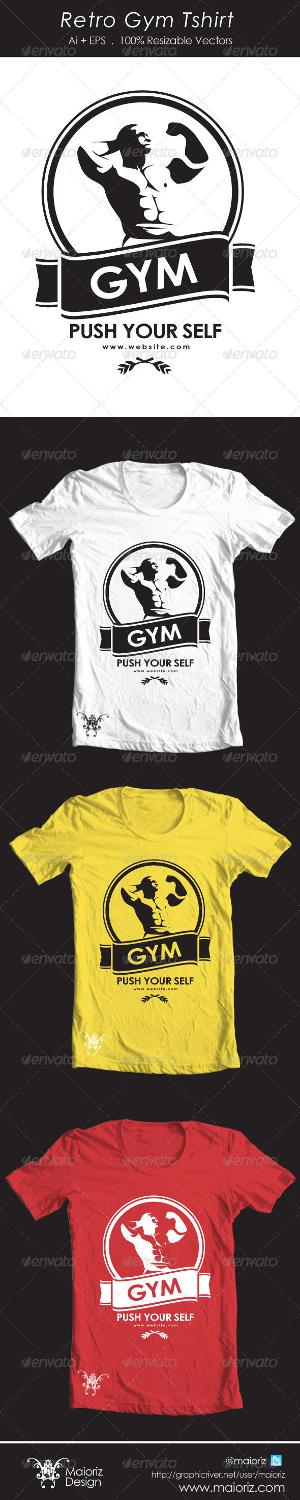Retro Gym Tshirt - Sports & Teams T-Shirts