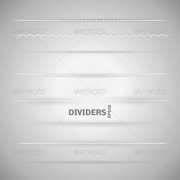 GraphicRiver Set of Dividers 4489691