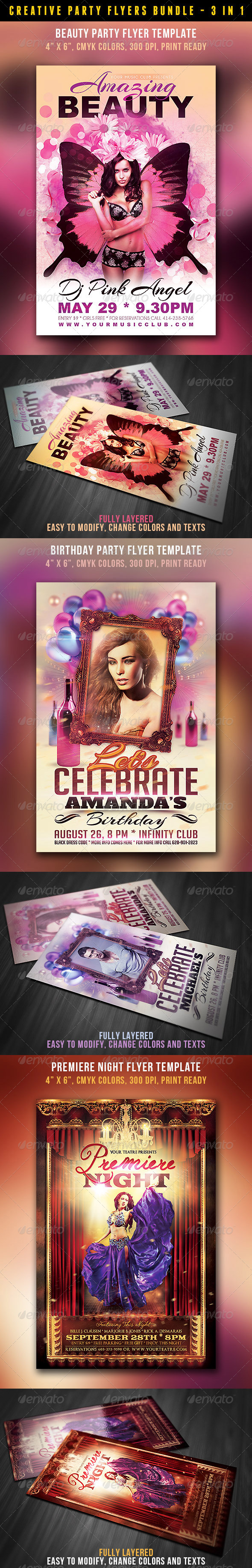GraphicRiver Creative Style Flyers Bundle 4577063
