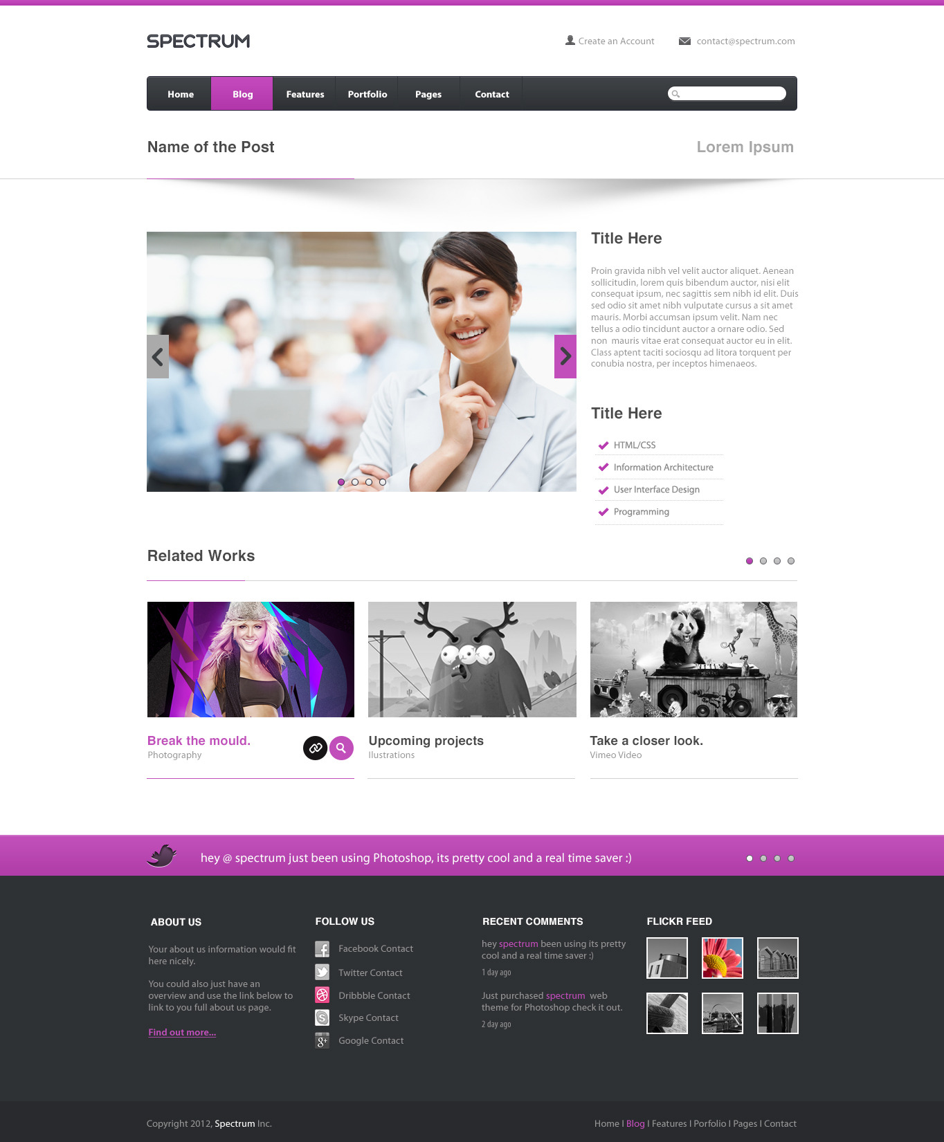 Spectrum PSD Template