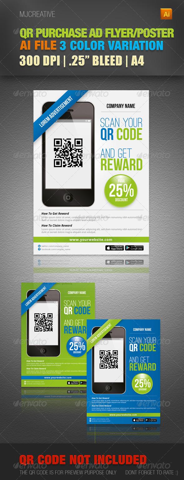 GraphicRiver QR Advertisement & Promotion Poster 4491372