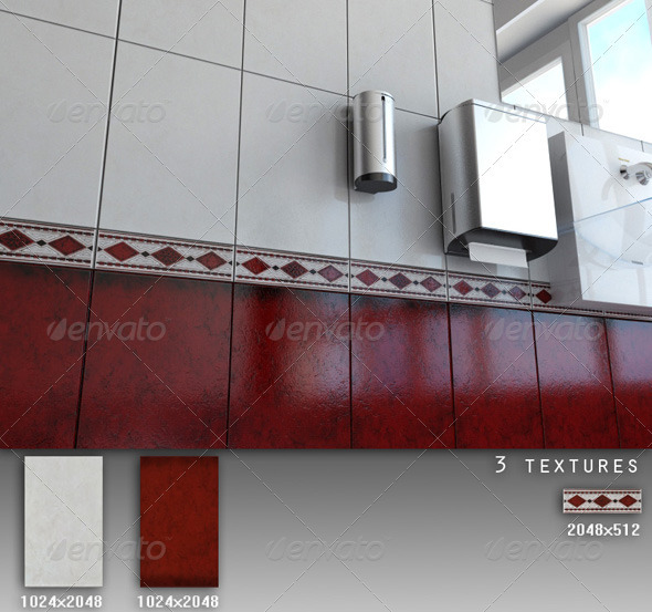 Professional Ceramic Tile Collection C030 - 3DOcean Item for Sale