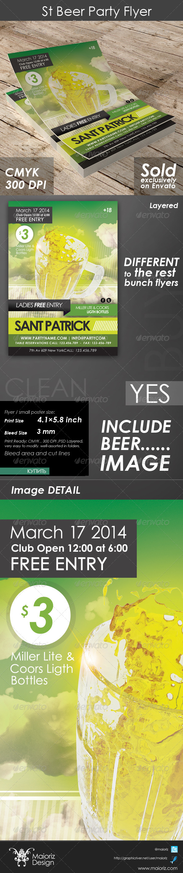 GraphicRiver St Beer Party Flyer 4481538