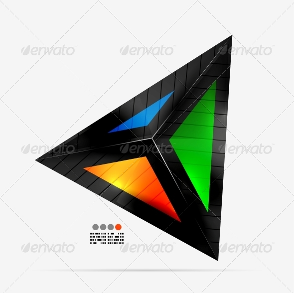 GraphicRiver Abstract Geometrical Shape Colorful Triangle 4577597