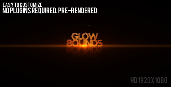 [VideoHive 479797] Glow Bounds | After Effects Project
