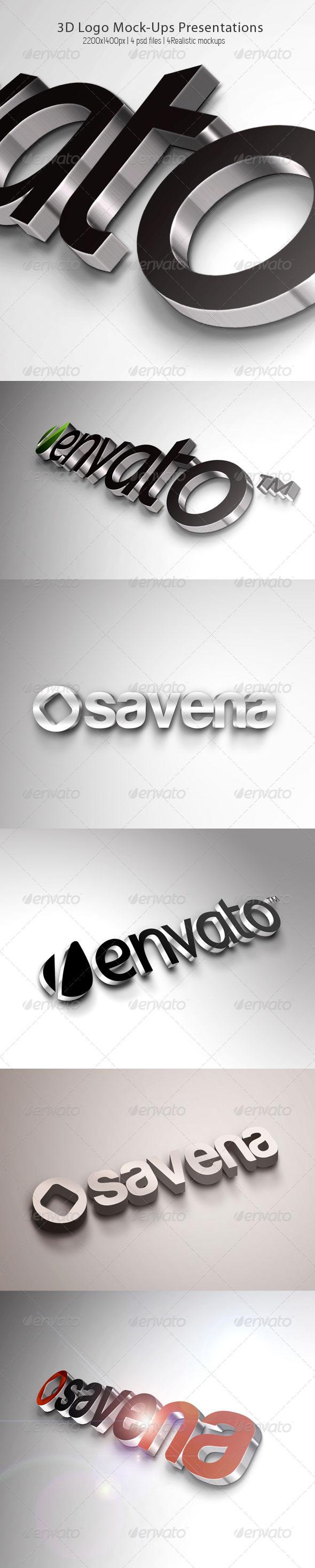 GraphicRiver 3D Logo Mock-Ups Presentations 4577738