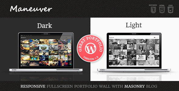 ThemeForest Maneuver Responsive Portfolio WordPress Theme 4578128