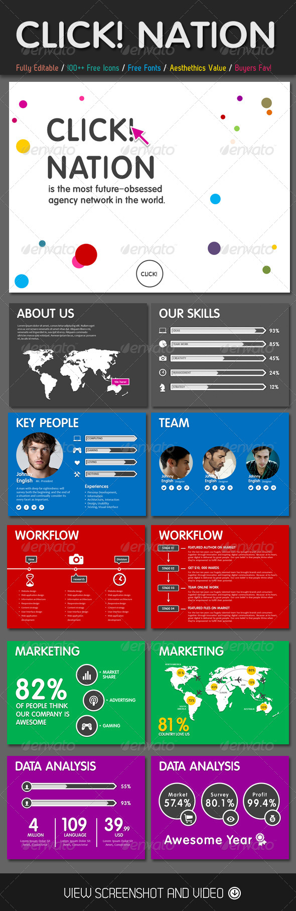 GraphicRiver Click Nation PowerPoint Template 4578199