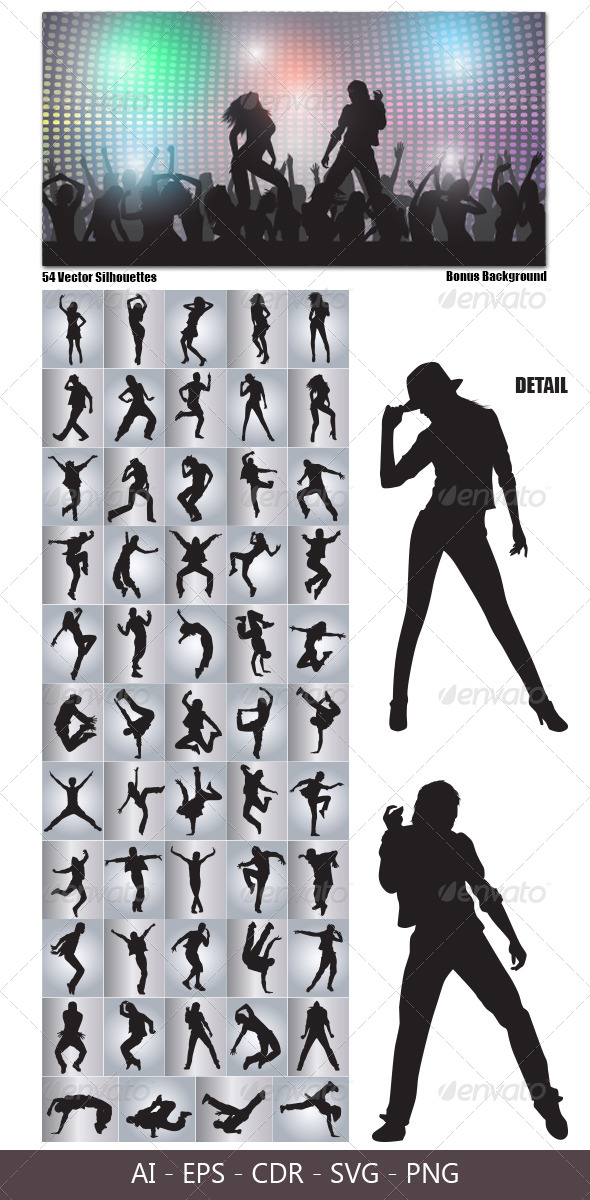 GraphicRiver Dancing Silhouettes 4578540