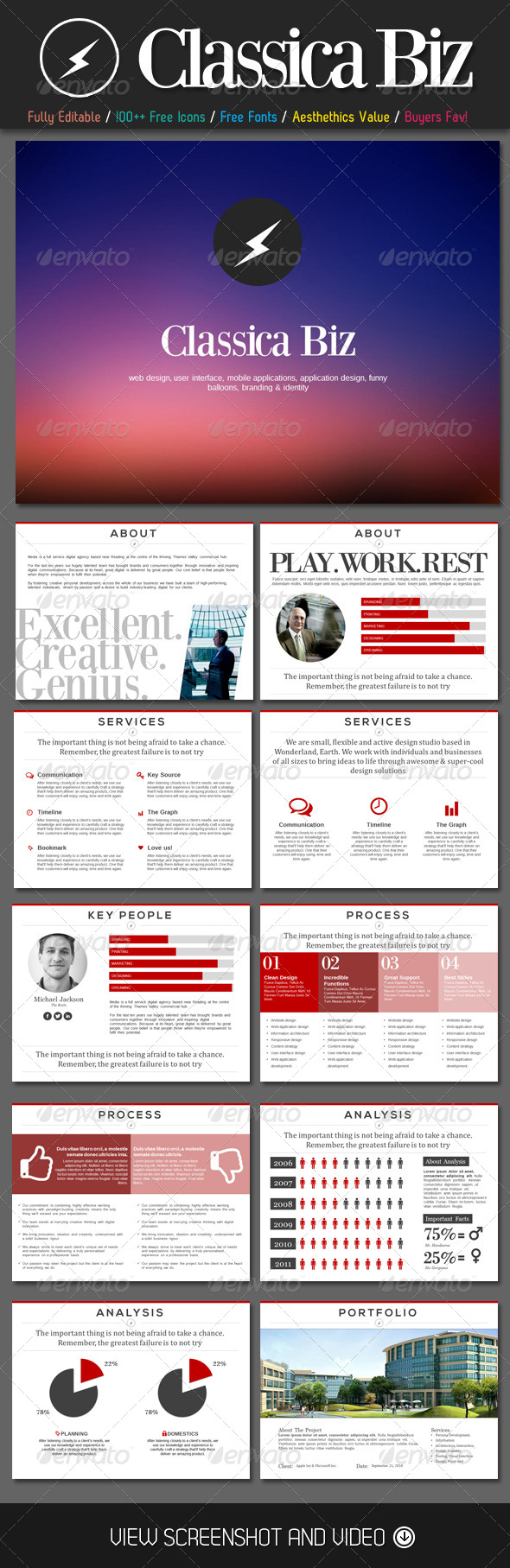 GraphicRiver Classica Biz PowerPoint Template 4578622