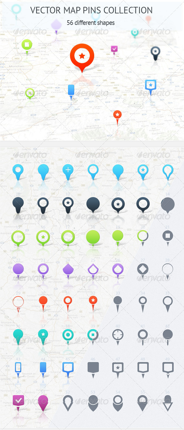 GraphicRiver Map Pins Collection 4579685