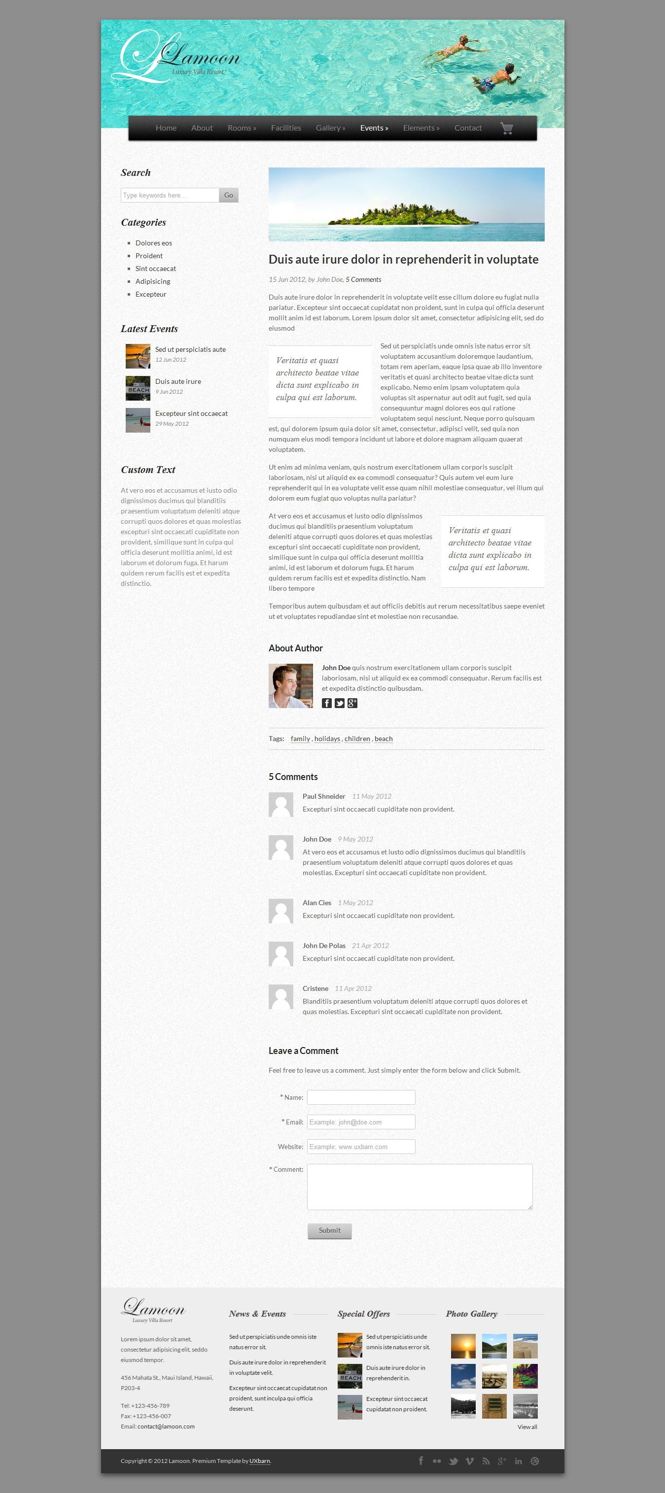 Lamoon - Responsive WordPress Theme