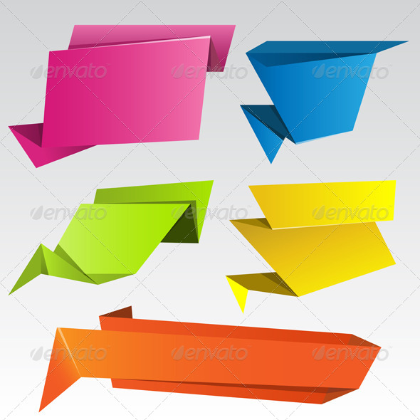 GraphicRiver Origami Banners 4579707