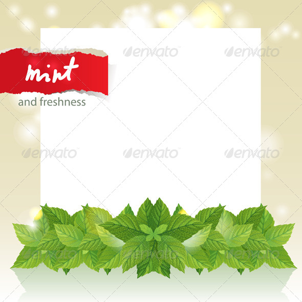 Abstract Background with Mint