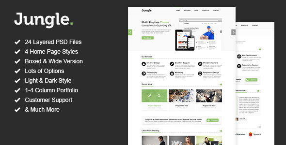 Jungle - Unique Multi Purpose PSD Template