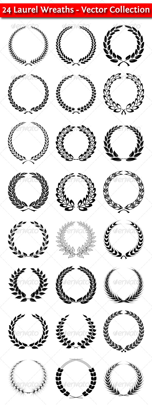 GraphicRiver Laurel Wreaths 4579925