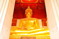 Big golden buddha at Wat Mongkol Bophit temple, Ayutthaya, Thail - PhotoDune Item for Sale