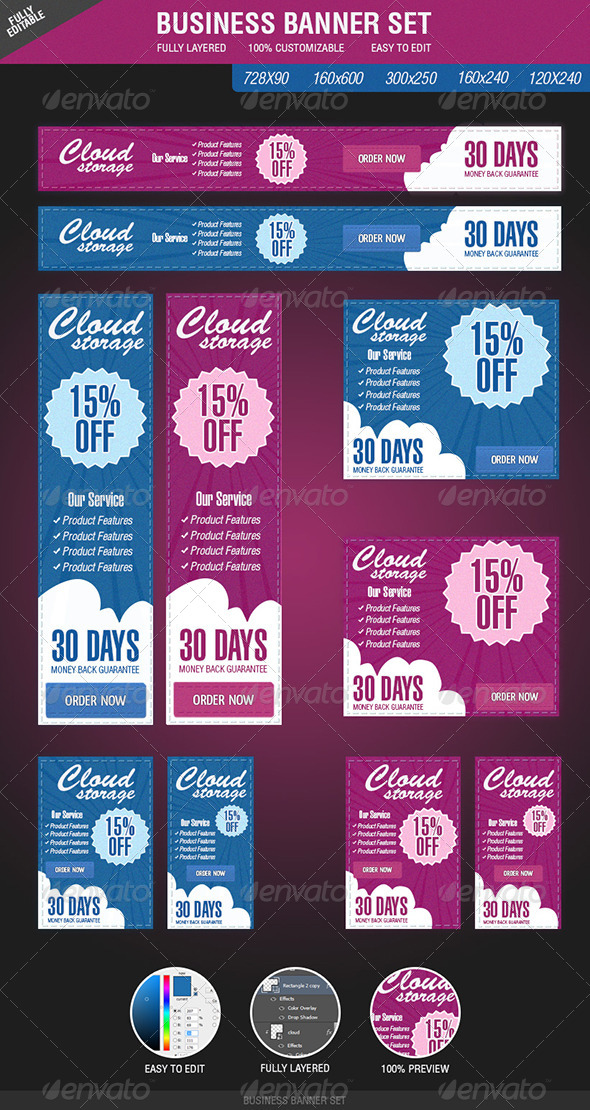 GraphicRiver Business Banner Set 4554737