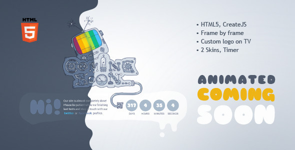 ThemeForest Coming Soon Machine Animated HTML5 Template 4580282
