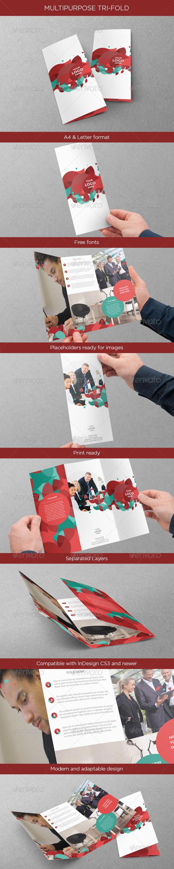 GraphicRiver Multipurpose Tri-fold 4580340