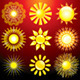 Decorative Sun Icons Vector Set - GraphicRiver Item for Sale