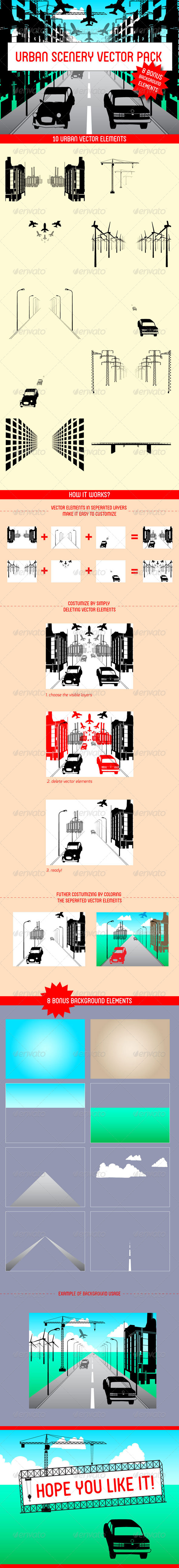 GraphicRiver Urban Scenery Vector Pack 4580533