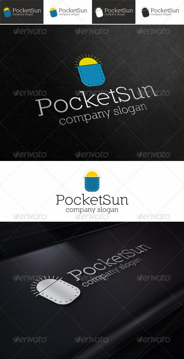 Pocket Sun Mobile App Logo - Symbols Logo Templates