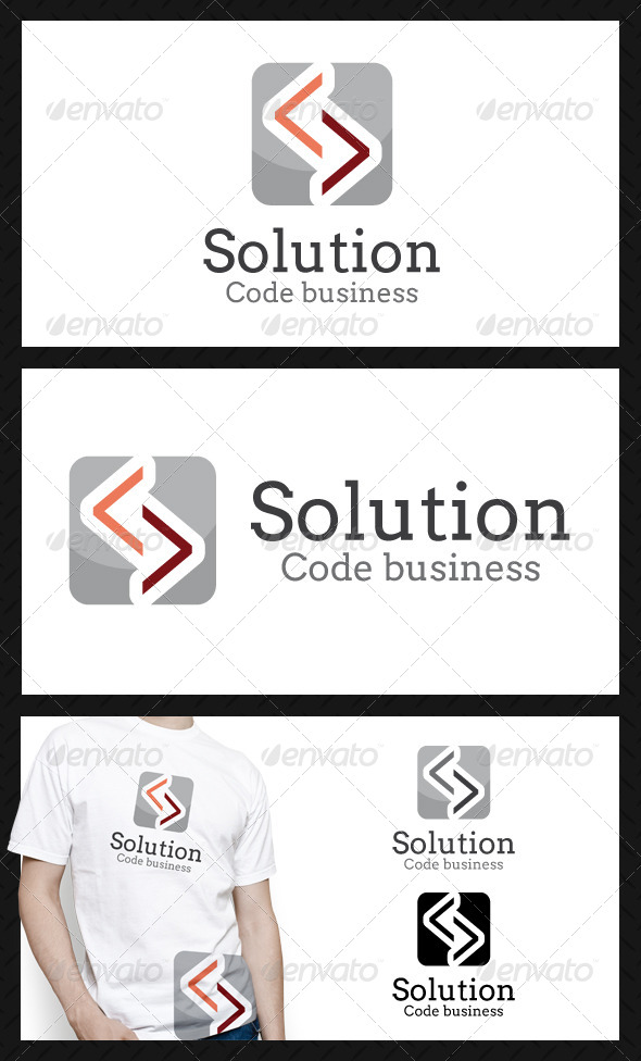 GraphicRiver Solution Code Business Logo Template 4580570