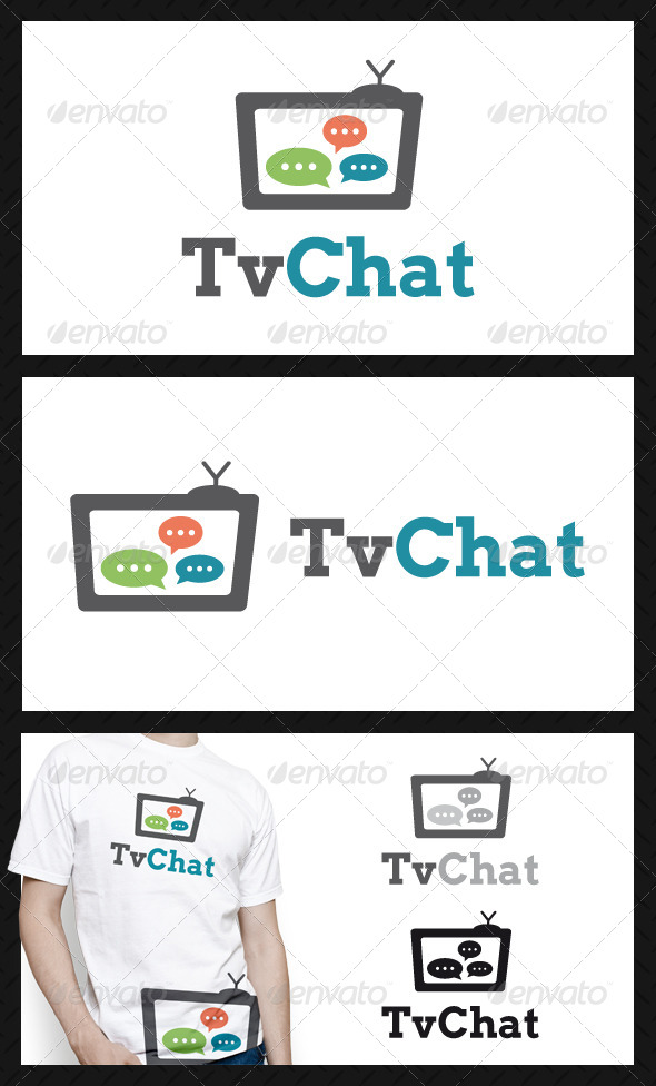 GraphicRiver Tv Chat Logo Template 4580647