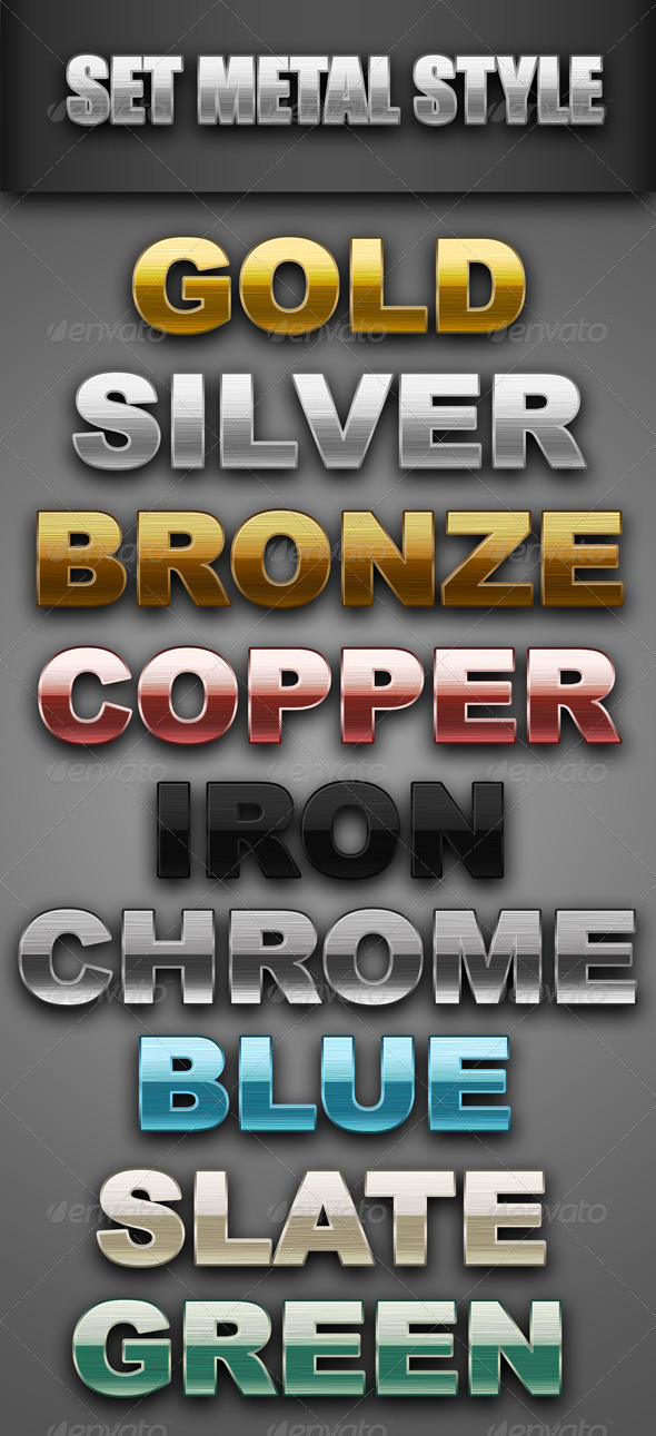GraphicRiver Set Metal Style 4580958