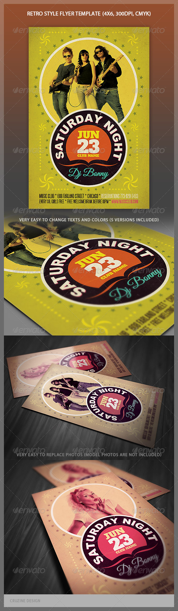 Retro Style Flyer - Events Flyers