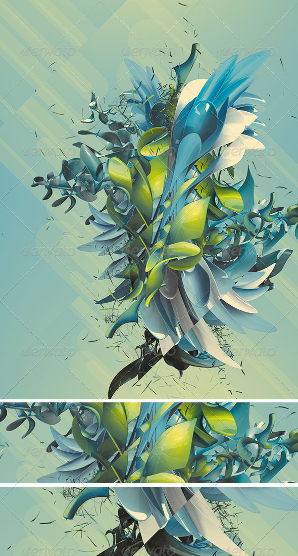 GraphicRiver Abstract 3D Plant 4581119