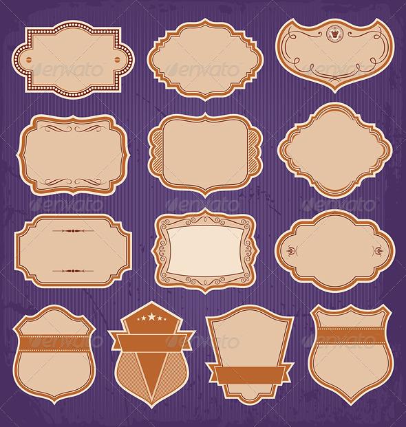 GraphicRiver Vintage Frame Labels Vector 4581177