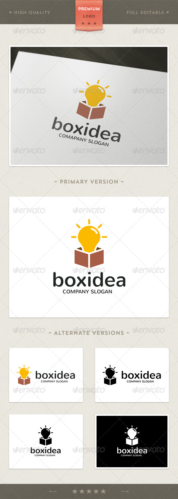 GraphicRiver Box Idea Logo Template 4581528