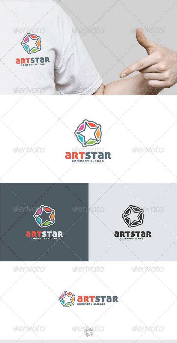 Art Star Logo - Vector Abstract