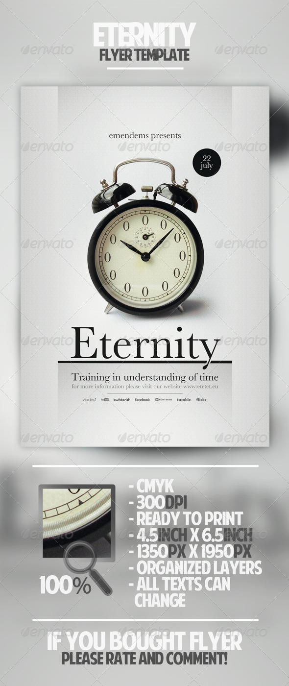GraphicRiver Eternity Flyer Template 4581682