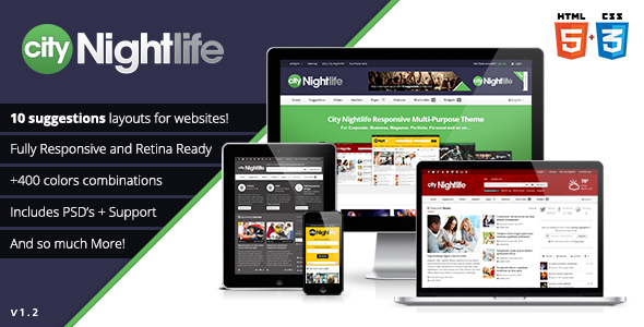 City Nightlife - Responsive Multi-Purpose Theme