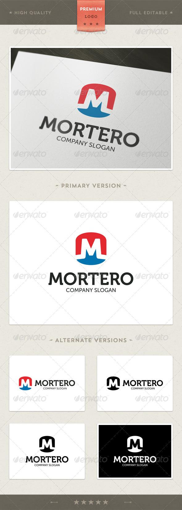 GraphicRiver Mortero M Letter Logo Template 4581710