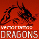 Dragon Tattoo Symbols - GraphicRiver Item for Sale