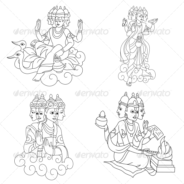 GraphicRiver Brahma Religious Vector Designs Pack 4582162