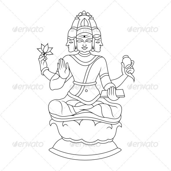 GraphicRiver Brahma Religious Vector Design 4582214