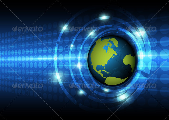 global technology concept background - Stock Photo - Images